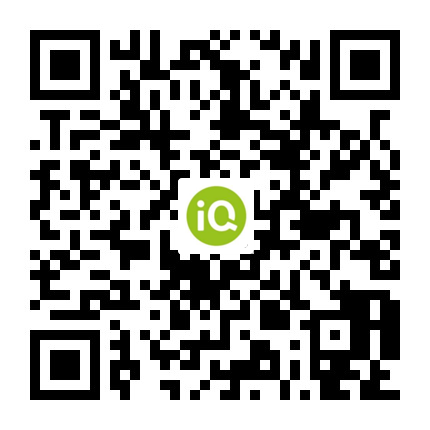 Scan to get the iQ app